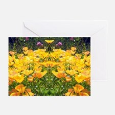Mirrored Poppies III Greeting Cards (Pk of 10)