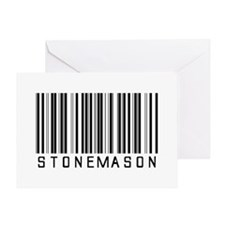 Stonemason Barcode Greeting Card