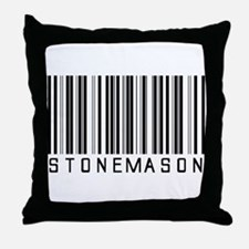 Stonemason Barcode Throw Pillow