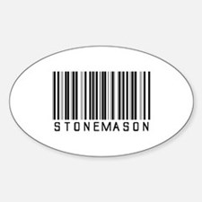 Stonemason Barcode Oval Decal