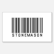 Stonemason Barcode Rectangle Decal