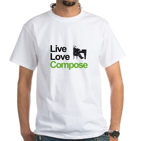 Brahms' Live Love Compose White T-Shirt