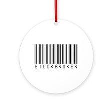 Stockbroker Barcode Ornament (Round)