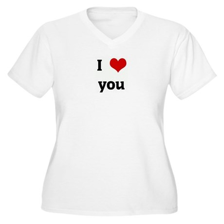 I Love you Women's Plus Size V-Neck T-Shirt
