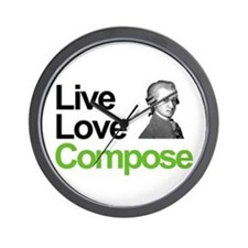 Mozart's Live Love Compose Wall Clock