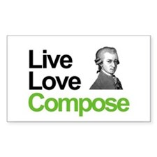 Mozart's Live Love Compose Rectangle Decal