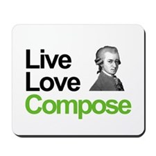 Mozart's Live Love Compose Mousepad