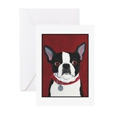Boston on Red Greeting Card