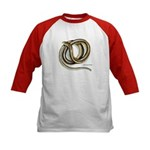 Glass Lizard Snake (Front) Kids Baseball Jersey