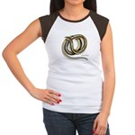 Glass Lizard Snake (Front) Women's Cap Sleeve T-Sh