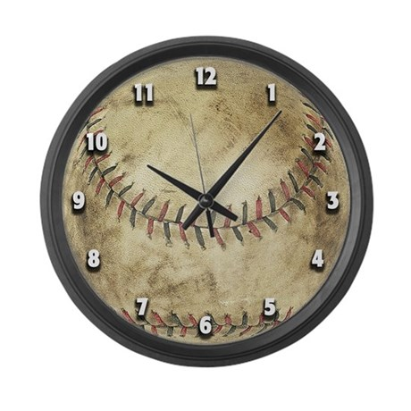 The Baseball... Large Wall Clock