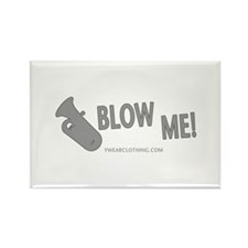 Blow Me Tuba Rectangle Magnet