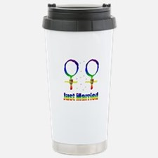 Just Married Lesbians Stainless Steel Travel Mug