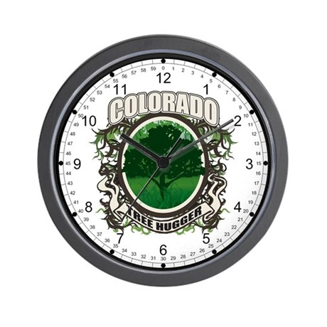 Tree Hugger Colorado Wall Clock