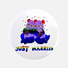 """Just Married Bears 3.5"""" Button"""