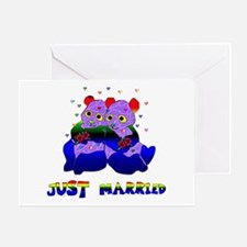 Just Married Bears Greeting Card
