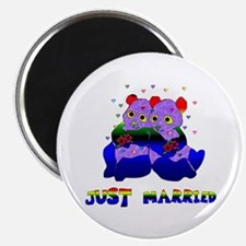 """Just Married Bears 2.25"""" Magnet (100 pack)"""