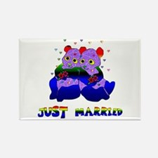 Just Married Bears Rectangle Magnet (100 pack)