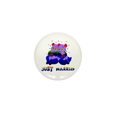 Just Married Bears Mini Button (100 pack)