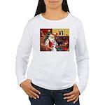 Santa's Great Dane (H) Women's Long Sleeve T-Shirt