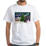 XmasMagic/Black Dane White T-Shirt