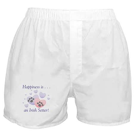 Happiness is...an Irish Setter Boxer Shorts
