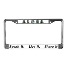Aloha License Plate Frame