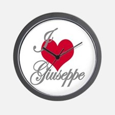 I love (heart) Giuseppe Wall Clock