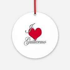 I love (heart) Guillermo Ornament (Round)