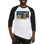 Xmas Magic Golden Retriever (#1) Baseball Jersey