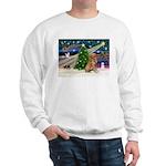 Xmas Magic Golden Retriever (#1) Sweatshirt