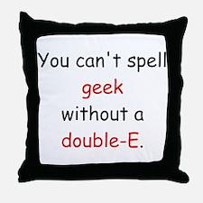 Double-E Throw Pillow