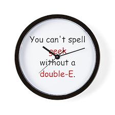Double-E Wall Clock
