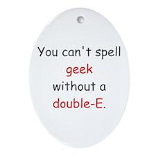 Double-E Oval Ornament