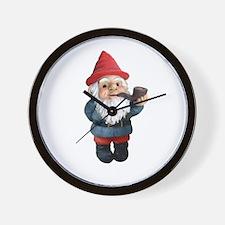 Smoking Pipe Gnome Wall Clock