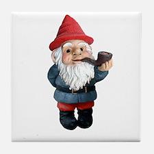 Smoking Pipe Gnome Tile Coaster