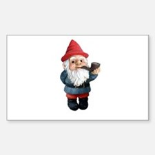 Smoking Pipe Gnome Rectangle Decal