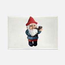 Smoking Pipe Gnome Rectangle Magnet
