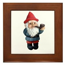 Smoking Pipe Gnome Framed Tile