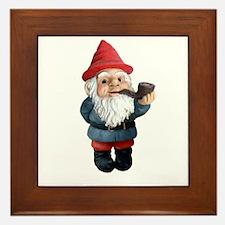 Smoking Pipe Gnome Framed Tile