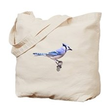Blue Jay Posed Tote Bag