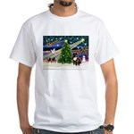 XmasMagic/French BD (br) White T-Shirt