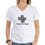 there. it's fixed. duct tap Women's V-Neck T-Shirt