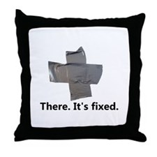 there. it's fixed. duct tape Throw Pillow