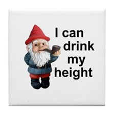 Drink my height, Gnome Tile Coaster
