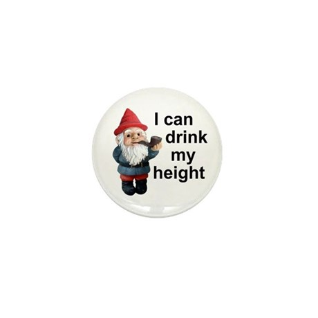 Drink my height, Gnome Mini Button (100 pack)