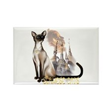 Siamese Cats Rectangle Magnet (10 pack)