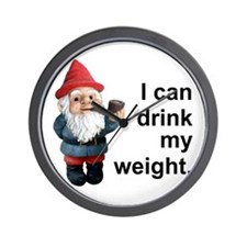 Drink my weight, Gnome Wall Clock