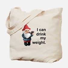 Drink my weight, Gnome Tote Bag
