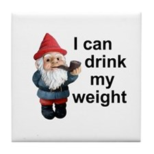 Drink my weight, Gnome Tile Coaster